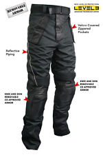 Xelement Men's Tri-Tex Fabric Leather Motorcycle Racing Pants with Level-3 Armor