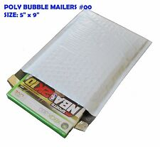 Size:#00 5 x 9 Poly Bubble Mailers Padded Shipping Envelopes Self Sealing Bags