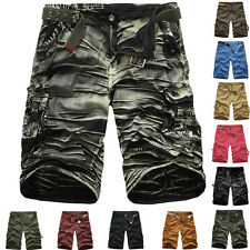 Men Summer Camouflage Shorts Cotton Baggy Military Army Cargo Shorts Short Pants
