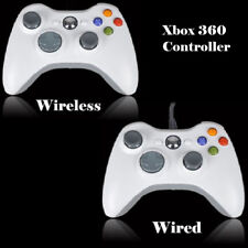 White USB Wired/Wireless Game Pad Controller for Microsoft Xbox 360 PC Windows