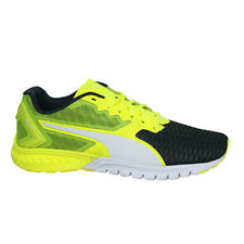 Puma Ignite Dual Yellow Grey Lace Up Mens Fitness Sports Trainers 189094 05 D133