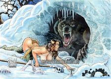 Cavewoman Snow Special Edition 4 Nude Signed Print by Budd Root