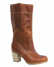 Timberland Earthkeepers Rudston Womens Brown Leather Pull On Boots 19677 U104