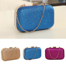 Fashionable Women Hasp Clutch Box Evening Party Glitter Chain Hand Bags Wallet
