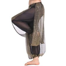 USA Belly Dance Costume Tribal Yoga Pants Sequins Wave Harem Trousers Pants