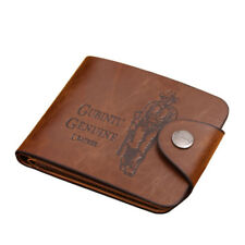 Fashion Mens Genuine Leather Cowboy Bifold Wallet Multi Pocket Clutch Purse