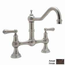 Rohl Perrin and Rowe Double Handle Provence Kitchen Faucet with Lever Handle