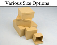 Paper Mache Square High Stacking Boxes with Lids to Decorate - Choice of Size