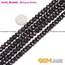 """Faceted Natural Red Garnet Rondelle Spacer Beads for Jewelry Making 15"""""""