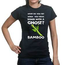 Bambi Ghost Halloween Scary Funny Mask New Ladies T shirt Tee Top T-shirt