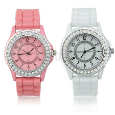 New Gel Silicone Crystal Men Lady Jelly Sport Wrist Watch Gifts Fashion Luxury