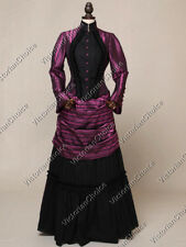 Victorian Edwardian Vintage Christmas Party Bustle Dress Steampunk Costume N 139