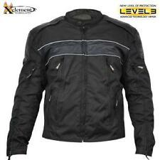 Xelement Men's Tri-Tex Fabric and Leather Level-3 Armored Motorcycle Jacket