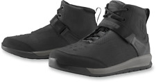 Mens Icon Black Superduty 5 Pair Leather Motorcycle Riding Street Racing Boots