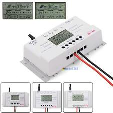LCD 10/20/30/40A 12V/24V MPPT Solar Panel Regulator Charge Controller 3 Timer K^