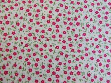 Red cerise ditsy tiny floral fabric 100% cotton fat quarter half metre & metre