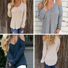 Women Autumn Long Sleeve Pullovers Crewneck Stitching Color Loose Fit Sweaters