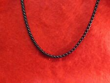 STAINLESS STEEL BLACK 4MM SMOOTH BOX CHAIN NECKLACE-BLACK