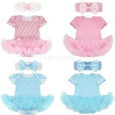 Newborn Infant Baby Girl Romper Jumpsuit Party Dress Christmas Outfits Headband