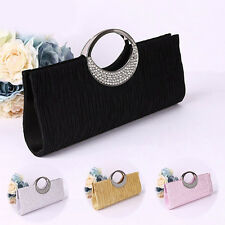 JF_ Women Luxury Rhinestone Satin Evening Bag Party Clutch Purse Handbag Perfe