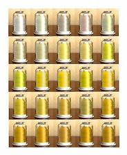 Hemingworth Embroidery Thread-YELLOWS-All On This Page-Convenient Color Families