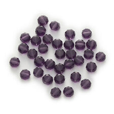 50 Piece Violet Bread Faceted Crystal Glass Jewelry Making Beads 4-8mm