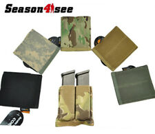 Tactical Airsoft Molle QD Double Pouch Hoster for Pistol Magazine Flashlight SG