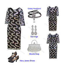 Women's Retro 1920s Flapper Dress Cocktail Evening Gatsby Party 20s Prom Costume