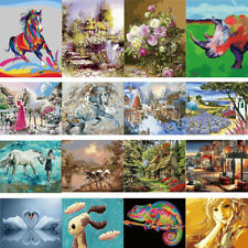 16X20'' Acrylic Paint By Number Kit DIY Oil Painting Canvas Home Decor W/N Frame