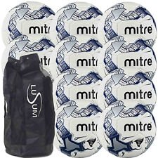 Mitre Primero Training Football 10 ball pack with a Lusum Breathable Ball Bag