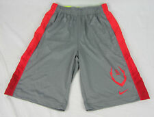 NWT Nike Boys Dri-Fit Football Training Shorts Gray/Red Size Youth Large