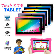 7'' Quad Core Tablet 16GB HD Android 4.4 KitKat Dual Camera WiFi Bundle for Kids
