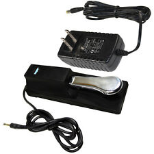 HQRP AC Adapter and Sustain Pedal for Casio CTK / LK Series Electronic Keyboards