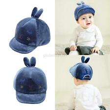 Velvet Toddler Child Baby Infant Boy Girl Beret Sun Cap Cute Rabbit Baseball Hat