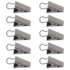 10Pcs Stainless Curtain Clips with Hook Shower Curtain Panel Hanger Catcher Clip