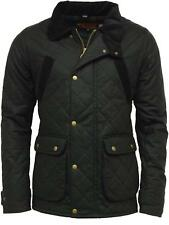 Mens GAME OXFORD British Made Quilted Wax Jacket - Black