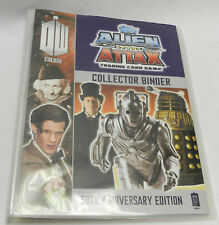 over 55 Doctor who topps Alien Attax trading cards in binder