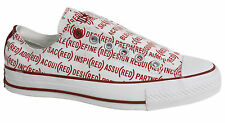 Converse RED All Star Chuck Taylor Slip On White RED Plimsolls 100690 U95