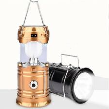 Collapsible Solar AC Rechargeable Camping Lantern LED Torch Hand Lamp Light
