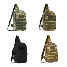 Men Tactical Military Sling Chest Pack Cross Body Backpack Molle Daypack Bag