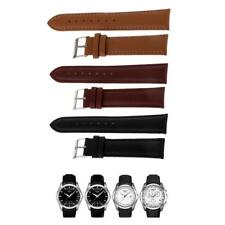 Quality Genuine Leather Watch Strap Band Replacement Black Coffee Brown 20mm
