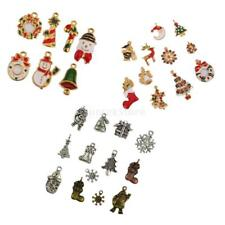 Pack of Assorted Vintage Christmas Pendant DIY Jewelry Charms Beads Xmas Gift