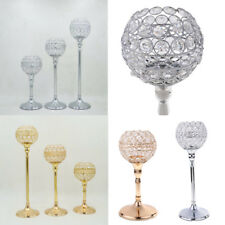 Globe Pillar Crystal Candle Tea Light Holder Wedding Centerpiece Table Lamp PICK