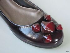 new SESTO MEUCCI burgundy JEWELED flats shoes Italy - really cute