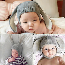 Winter Baby Toddler Kids Boy Girl Knitted Rabbit Crochet Ear Beanie Warm Hat Cap