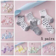 Soft Sock 5 Pairs Baby Boy Girl Cartoon Cotton Socks NewBorn Infant Toddler Kids