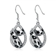 Women Ladies Fashion Earrings Jewelry Leopard Print Waterdrop Dangle Earring