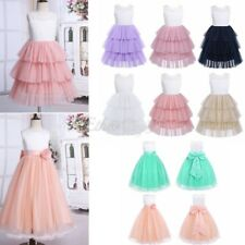 Flower Girls Bow Wedding Dress Party Tutu Prom Ball Formal Pageant Gown Kids