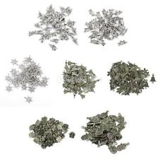 50pcs/Pack Tibetan Silver Christmas Spacer Loose Beads Charms Pendant DIY Crafts