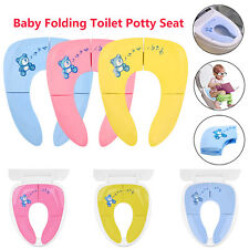 Portable Toddlers Baby Folding Travel Potty Seat Toilet Training Seat Pad